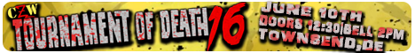 CZW's Tournament of Death 16 -  June 10 @ 2PM - Ultraviolent Underground - Townsend, DE